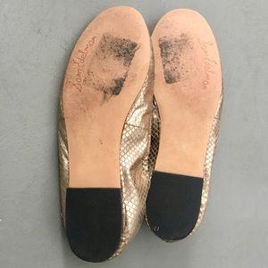 Sam Edelman Shoes - LIKE NEW Sam Edelman Felicia Snakeskin Gold Flats